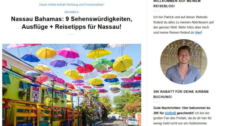 """""""Nassau Bahamas: 9 Sehenswürdigkeiten, Ausflüge + Reisetipps für Nassau!"""" von germanbackpacker.com"""