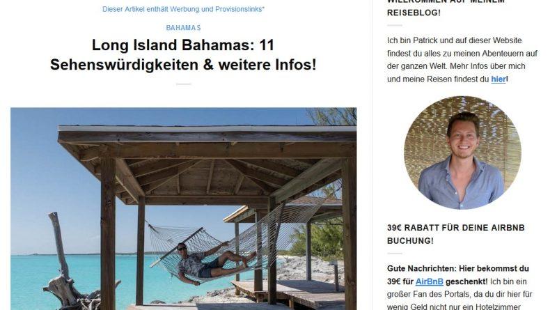 """""""Long Island Bahamas: 11 Sehenswürdigkeiten & weitere Infos!"""" von germanbackpacker.com"""
