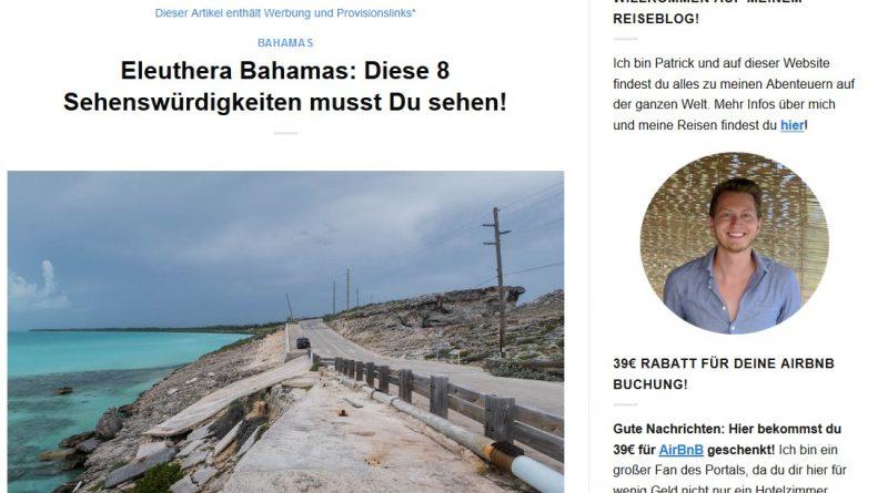 """""""Eleuthera Bahamas: Diese 8 Sehenswürdigkeiten musst Du sehen!"""" von germanbackpacker.com"""