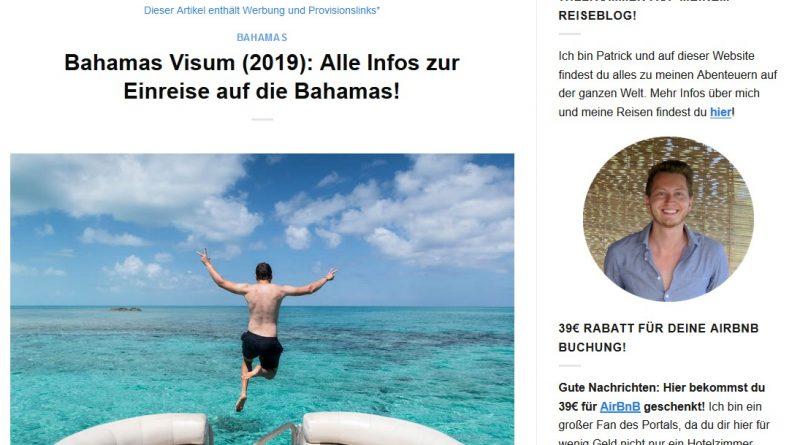 """""""Bahamas Visum (2019): Alle Infos zur Einreise auf die Bahamas!"""" von germanbackpacker.com"""