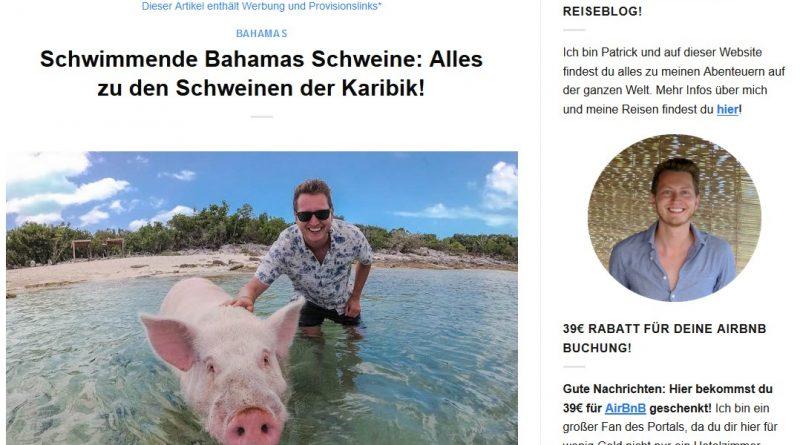 """""""Schwimmende Bahamas Schweine: Alles zu den Schweinen der Karibik!"""" von germanbackpacker.com"""